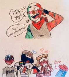 Read from the story mexico y los 5 contry's :v by Karl_Zeik (Karl Zeik) with reads. Hetalia, Mexico Country, Human Flag, Splatoon Comics, Mundo Comic, Human Art, Country Art, Cool Countries, Cute Gay