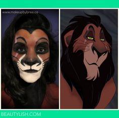 Scar - Lion King- Makeup Transformation | Breanna B.'s Photo | Beautylish