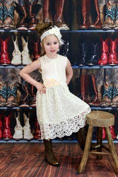 Cream Lace Country Dress