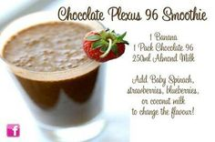 One of my favorites!! I often add some coconut too. email me at healthwithplexus@outlook.com to try Chocolate Plexus 96!