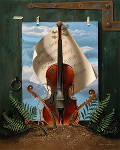 The Old Violin by Jeffrey G. Batchelor - 2015