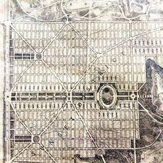 """This 1905 """"San Francisco Plan"""" map shows a layout that never quite actualized in the #SunsetDistrict. #urbanplanning #observatorymaps by exploratorium"""