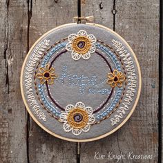 Hope Hoop Art by kimknightkreations on Etsy, $28.00 #embroidery #handembroidery #hoopart