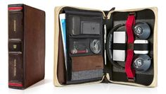 Keep your iPad and all your gadget accessories organized on the go with the BookBook Travel Journal by Twelve South.