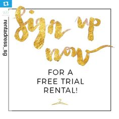 Friends in Singapore, have you heard? Rent A Dress is coming to you real soon and we're counting the days till our official launch!  Till then, don't forget to sign up for a free trial rental at www.rentadress.com.sg! [ by @rentadress_sg]