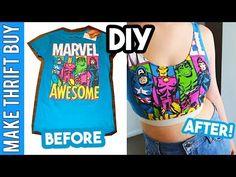 DIY Sports Bra Crop Top (Customisable) | Make Thrift Buy #53.5 - YouTube