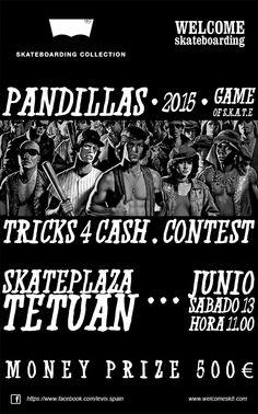 Concurso de Pandillas Game of S.K.A.T.E. dos campeonatos de trucos de #skate organizado por +welcome skateboarding shop +Levi's®