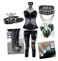 Gothic Beauties Night Out by skitx on Polyvore featuring polyvore fashion style Demonia clothing