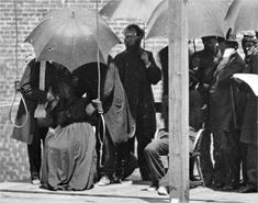 *MARY SURRATT ~ CATHOLIC: was shielded from a rain shower by an umbrella as the was prepared to have a rope put around her neck.  Her connection to the Lincoln assassination supposedly linked the Vatican to the foul deed. Heretic, Rebel, a Thing to Flout: In a Snit Congress Ends Diplomatic Relations with the Vatican Begun by George Washington