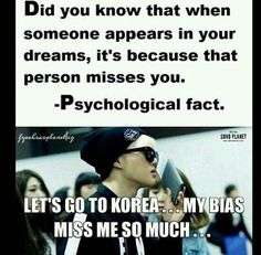 I've had dreams with T.O.P, Daesung, Key, Minho, Taemin, Zico, and Chenyeol... I must be pretty popular :)