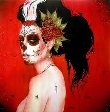 girly skull tattoo - Google zoeken