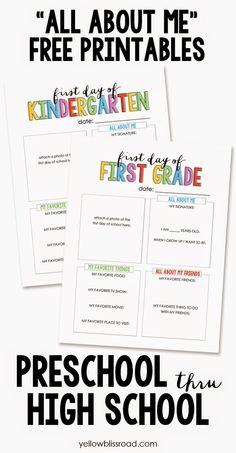 PaperLark Studio: Back to School Printables Round Up