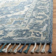 Bungalow Rose Gooden Hand-Tufted Wool Dark Blue Area Rug & Reviews | Wayfair Casual Home Decor, Rustic Chic Decor, Grey Rugs, Beige Area Rugs, Dark Blue Grey, Gray, Shag Carpet, Blue Wool, Blue Area