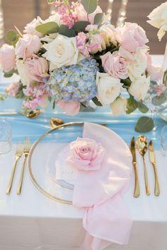 July Wedding-Light Pink Bridesmaid Dresses, Blue Invitation and Light Pink Centerpieces 2019 - ColorsBridesmaid Mod Wedding, Blue Wedding, Spring Wedding, Dream Wedding, Wedding Day, Wedding Reception, Blue Silver Weddings, Hot Pink Weddings, Wedding Gifts