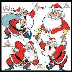 Mark Christiansen - Santa Claus #Christmas #xmas #model #sheet #reference #character #design #cartoon #characterdesign #holiday #holidays #KrisKringle #SantaClaus