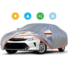 Audew Car Cover Oxford Fabric Car Cover for All Weather Protection-Waterproof Windproof Snowproof UV Resistant with Adjustable Straps/Reflective Strips Fits Sedan to Cool Car Accessories, Fit Car, Oxford Fabric, Car Covers, Cool Cars, Weather, Top, Cool Car Gadgets, Nice Cars
