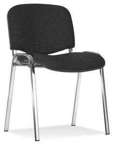 """Der Stuhl """"Iso"""" von BOXXX schafft Platz, wo Sie ihn brauchen! Die Beine aus verchromtem Stahl setzten einen stilvollen Akzent und ergänzen den Textilbezug in Schwarz. Praktisch: Die Stühle können spielend leicht gestapelt werden. Überzeugen Sie sich von der Flexibilität dieses nützlichen Besucherstuhls und entscheiden Sie sich für Qualität von BOXXX!"""