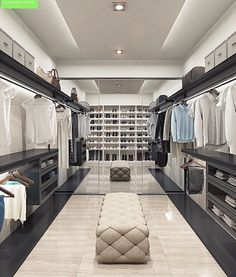 The best of luxury closet design in a selection curated by Boca do Lobo to inspire interior designers looking to finish their projects. Discover unique walk-in closet setups by the best furniture makers out there Walk In Closet Design, Bedroom Closet Design, Master Bedroom Closet, Closet Designs, Luxury Home Decor, Luxury Interior, Home Interior Design, Luxury Homes, Wardrobe Room