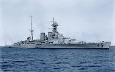 British battlecruiser HMS Hood in 1924 - for many years she was the largest warship in the world.