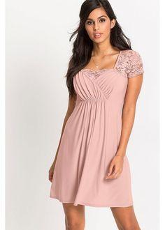 Csipkés dzsörzé ruha • vintage rózsaszín • bonprix áruház