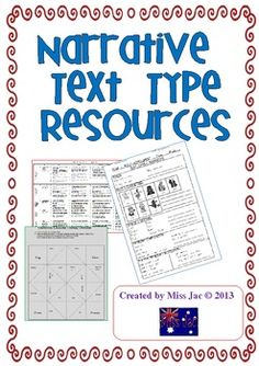 This 17 page product contains resources to be used with a Narrative genre/text type unit.