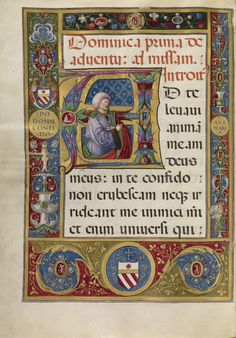 """Missal,"" Matteo da Milano, Rome, Italy, about 1520. Tempera, gold, and ink on parchment bound between wood boards covered in full red velvet. 