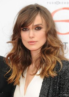 Ombre Hair Medium long + Bangs. Of course, Kierra Knightley looks good in any hair style