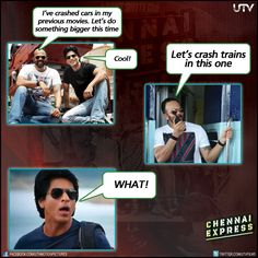 Haha, this is not what we mean when we say #ChennaiExpress will be Rohit Shetty's biggest SMASH hit yet