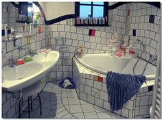 Magdeburg Hundertwasser-Haus Badezimmer Bath room