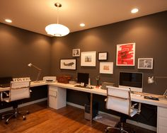 Great idea for basement room office