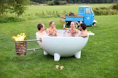 Image result for dutchtub wood burning hot tub