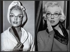 Marilyn in How to marry a millionaire. I love how blind and funny she is in this film and love the pointy glasses