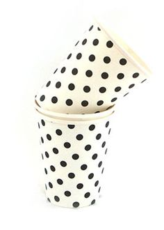 Black/White Dots Party Cups