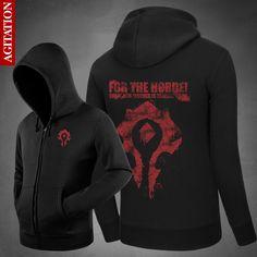 WOW Hoodie Game Dota 2 Coat ALLIANCE&Horde Jacket Winter Men Clothing Thick Fleece Zipper WOW Oversized Sweatshirt For Men Women