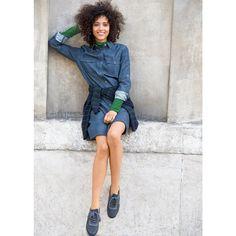 Jeanskleid, reine Baumwolle R essentiel Pretty Girls, Shirt Dress, Shirts, Dresses, Style, Fashion, Dungarees, Dress Shirt, Outfit