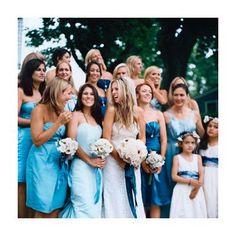 Brides: Maggie & Sean in Nantucket, MA : Bridesmaid Dresses Gallery Nautical Wedding, Blue Wedding, Wedding Bride, Dream Wedding, Wedding Ideas, Wedding Stuff, Wedding Shoot, Wedding Things, Wedding Colors