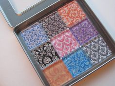 Damask Refrigerator Magnets Set of 9 Fridge Magnets by DLRjewelry