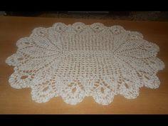 tapete de crochê oval em barbante mesclado parte 1 - crochet rug - alfom...