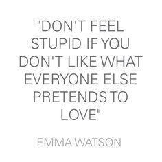 advice from Emma Watson.