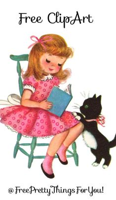 Images- Pretty Vintage Girl Clip Art - Free Pretty Things For You