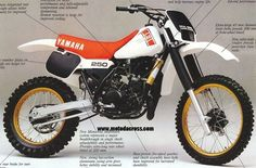 1982 yamaha yz250 - My high school racer. They came to Canada in this color and yellow to the US