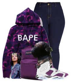 """."" by breelynrenee ❤ liked on Polyvore featuring moda, Forever 21, JanSport, NIKE e Joolz by Martha Calvo"