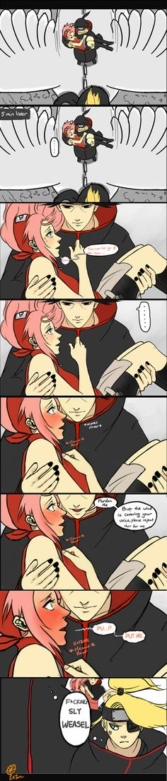Itachi going for Sakura! where are you sasuke? Your sly brother is getting in with Sakura! ItchSaku