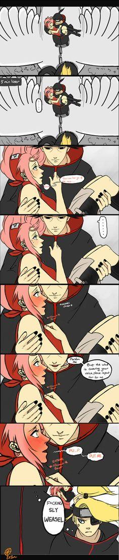 Itachi going for Sakura! where are you sasuke? Your sly brother is getting in with Sakura! ItchSaku