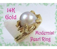 MING'S 14K Gold ~ Baroque Pearl Ring ~ FREE SHIPPING $695  www.FindMeTreasure.com