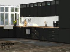 - Xenon Kitchen Found in TSR Category 'Sims 4 Kitchen Sets'