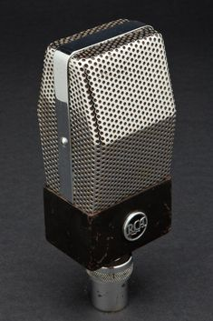 "Vintage Art Deco black and chrome edition of the famous RCA Type 74B ""Junior Velocity"" Microphone first introduced in 1935."