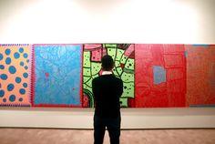 """LA ARTISTA YAYOY KUSAMA EN CHILE. Fotografías de la obra """"Sala de Espejos del Infinito"""", de la artista japonesa Yayoi Kusama, el viernes 5 de febrero de 2015, que forma parte de la exposición..."""