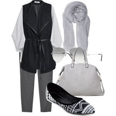 A fashion look from January 2015 featuring MANGO blouses, ONLY vests and Monki pants. Browse and shop related looks. Monki, Vests, Monochrome, January, Fashion Looks, Blouses, Style Inspiration, Shoe Bag, Stuff To Buy