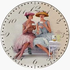 Afternoon Tea Desk Shelf and Wall Clock by Klicknc on Etsy Kids Canvas, Canvas Art, Clock Face Printable, Propaganda E Marketing, Outdoor Wall Clocks, New Years Eve Decorations, Carriage Clocks, Decoupage Vintage, Vintage Ephemera